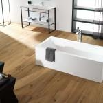Colocacion de suelo laminado en baño tipo pergo en Zaragoza