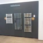 Exposicion de radiadores toalleros, electricos y de agua caliente.