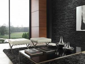 Paneles decorativos que imitan piedra